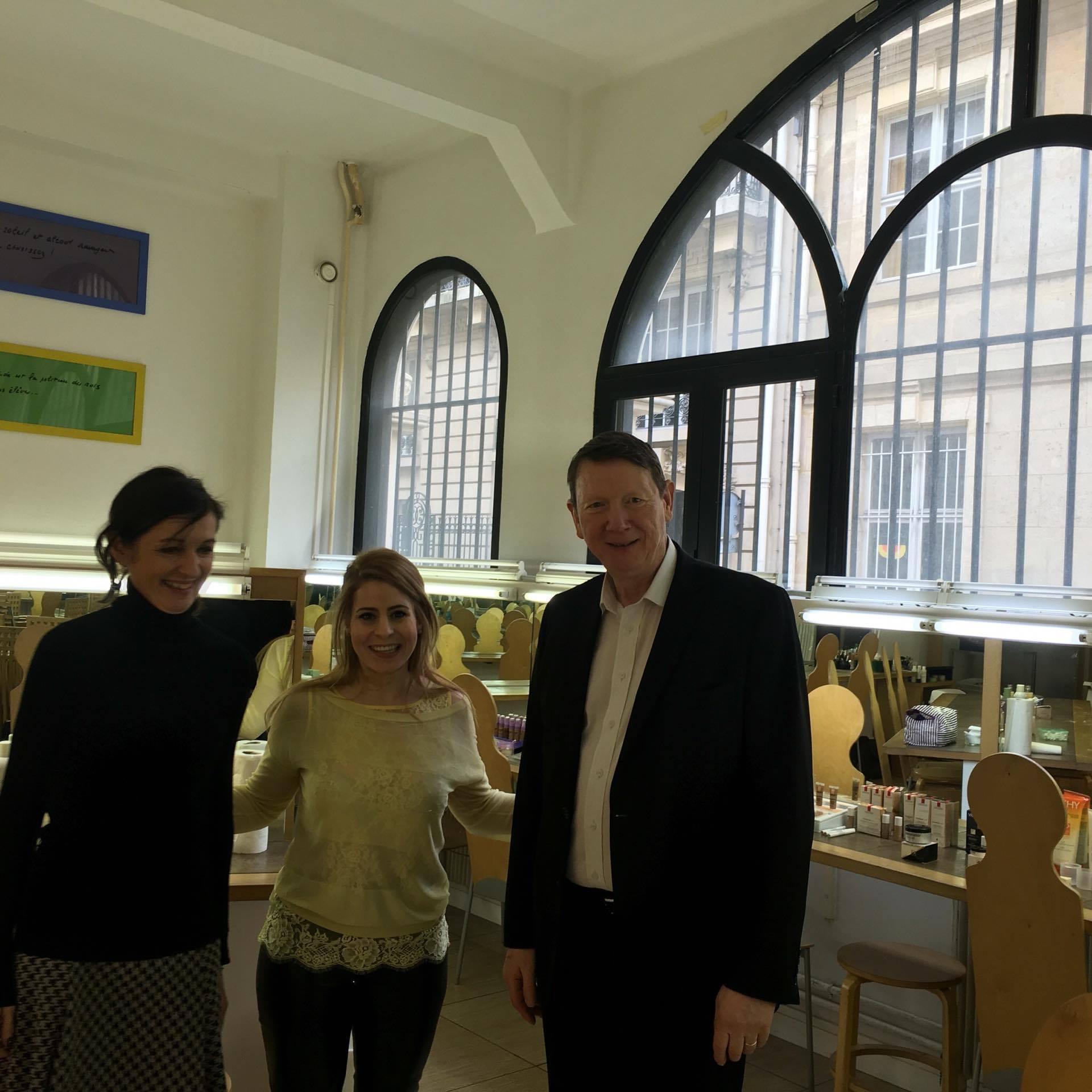 Président Mr Jean Marie Meurant( droite), Psychologue Clinicienne Mme martine Carré et Présidente Mme Lamine Myriam( milieu)